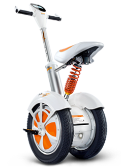A3 is the first saddle-equipped electric scooter with 4 inch LED display screen, hydraulic shock absorber, electronic brake and app.